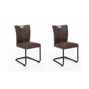Set 2 židlí z umělé kůže...