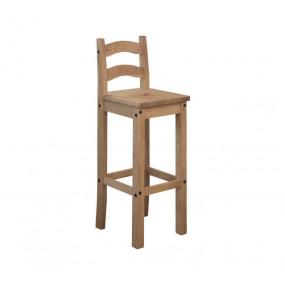 Barová židle z borovicového...