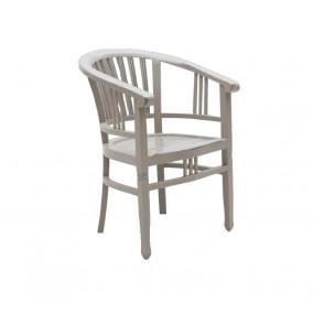 Dřevěná krémová židle Spa