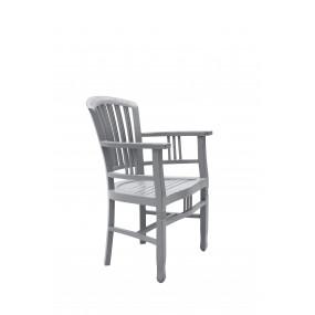 Krémová židle s područkami Spa