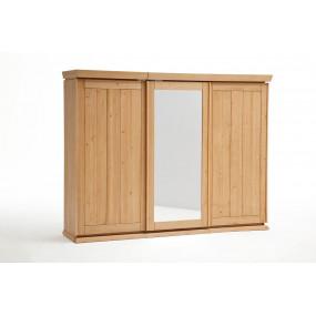 3dvěřová šatní skříň z masivu Goteborg medová