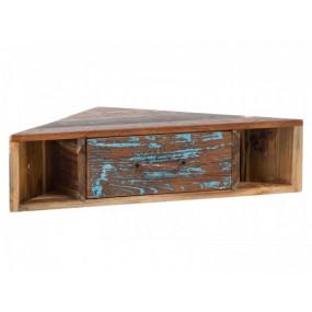 Rohová police z recyklovaného dřeva Shaman