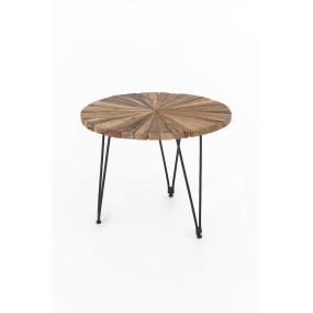Kulatý konferenční stolek z masivu Candi akátový