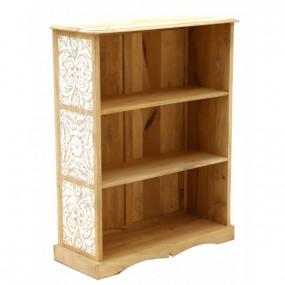 Masivní knihovna 90x115x35 z mangového dřeva Madurai