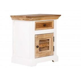 Bílý noční stolek Madagaskar