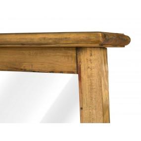 Dřevěné zrcadlo Rollo