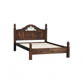 Hnědá masivní postel Mexiko 140x200