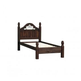 Hnědá masivní postel Mexiko 90x200