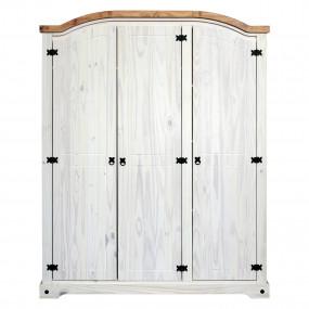Masivní skříň 3 dveřová bílý vosk CORONA