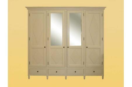 Elegantní šatní skříň se zrcadlem Swedish Blond