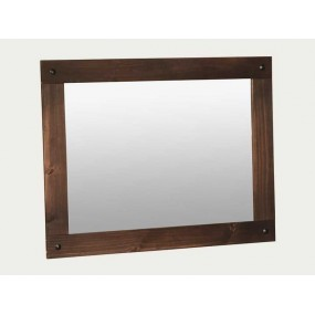 Rustikální hnědé zrcadlo na...