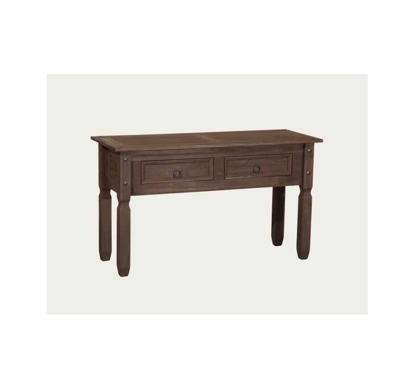 Hnědý konzolový stolek masiv Mexiko