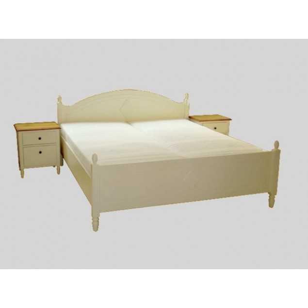 Elegantní manželská postel masivní Swedish Blond bílá