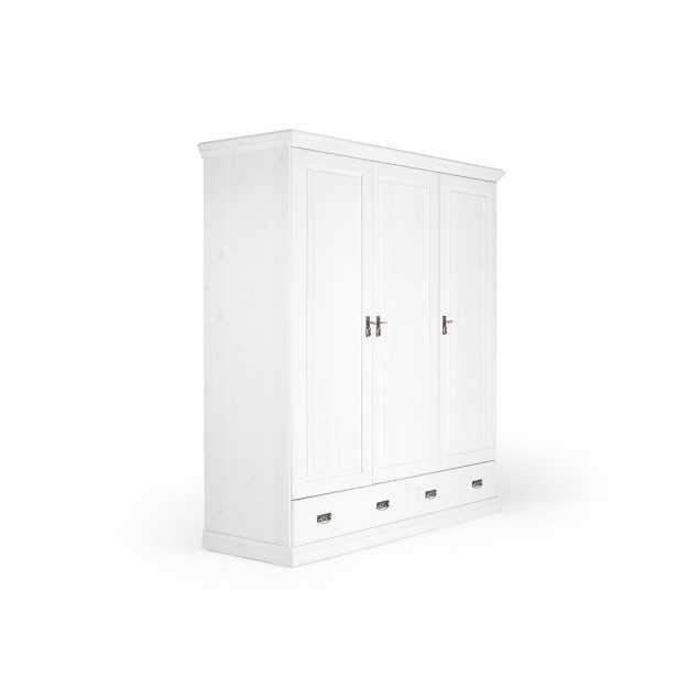 Bílá šatní skříň Stockholm