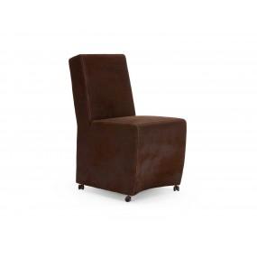 Židle z broušené syntetické kůžena Picasso