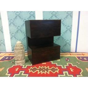 Tmavý noční stolek z palisandru