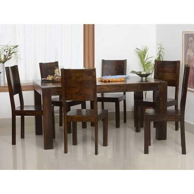 Masivní jídelní stůl z indického palisandru tmavý